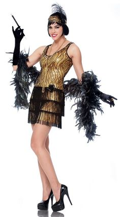 Adult Gold Broadway Flapper Costume - Candy Apple Costumes - Women's Plus Size Costumes