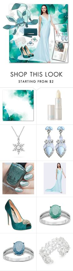 """""""Pokemon ~ Glaceon"""" by vwillbanks ❤ liked on Polyvore featuring Lipstick Queen, Bling Jewelry, Fame & Partners, Badgley Mischka, Kate Spade and Charlotte Russe"""