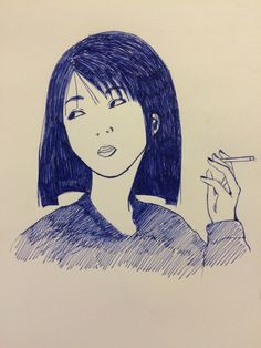 practice for AP art, inspired by Hisashi Eguchi's work
