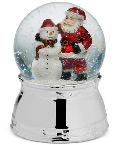 Mikasa Holiday Santa & Snowman Snow Globe - Sheer Curtains - Macy's