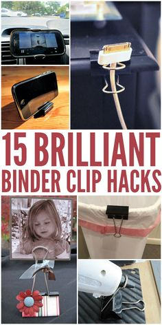 Binder Clip Hacks That Will Blow Your Mind Brilliant life hacks using binder clips that are so genius you'll wonder why you never thought of them yourself. Use them in the car, for crafting, and more!Hacks Hacks may refer to: Home Hacks, Diy Hacks, Cleaning Hacks, Tech Hacks, Organisation Hacks, Cord Organization, Kitchen Organization, Simple Life Hacks, Useful Life Hacks
