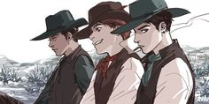 Token, Clyde, & Craig ~ the Old West