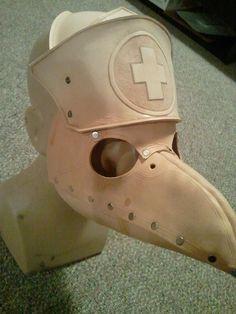 ஜ Tille: Nurse Plague Doc Mask WIP  by *Skinz-N-Hydez ~ http://Skinz-N-Hydez.deviantart.com/art/Nurse-Plague-Doc-Mask-WIP-269947008 ஜ