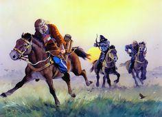 Scythia, 6th century BC: Scythian archer & Scythian warriors from rival group