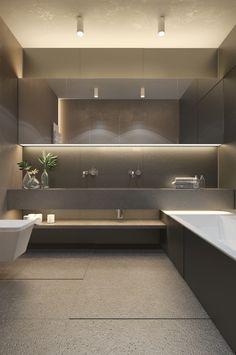 Studio 32 qm im Behance Badezimmer Home Interior, Modern Interior Design, Bathroom Design Luxury, Bathroom Layout, Bathroom Ideas, Bathroom Inspiration, Master Bathroom, Home Design Plans, Behance