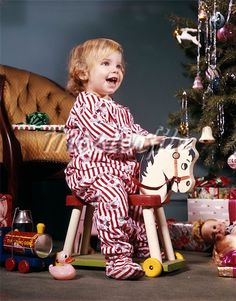 1960 Candy Cane Jammies..........