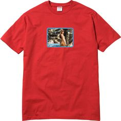 Supreme Sade Tee ❤ liked on Polyvore featuring tops, t-shirts, red tee, red top and red t shirt