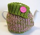 TEA POT COSY HAND KNITTED WOOL TO F...