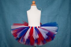 Red white and blue tutu-4th of July/ Military homecoming-custom made - 18 months to 4 years. $23.00, via Etsy.