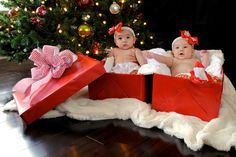 "https://flic.kr/p/7hJ2Jm | 10 | this is my niece gracy and her ""best friend"" mia born 2 weeks apart. they wanted a combined christmas picture of the girls and i was surprised how good two 4 month olds were sitting in those boxes!"