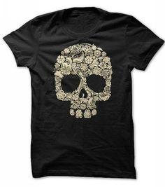 Halloween Floral Skull T Shirts, Hoodies. Get it here ==► https://www.sunfrog.com/Holidays/floral-skull-halloween-shirt.html?41382
