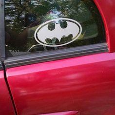 Batman emblem, DC Comics-inspired Justice League Fan Art Vinyl Car/Laptop Decal