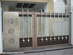 Vis Home Gate Design, House Main Gates Design, Steel Gate Design, Front Gate Design, Door Design Interior, Main Door Design, Balcony Grill Design, Grill Door Design, Compound Gate Design