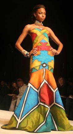 Style at Africa fashion week African Inspired Fashion, African Print Fashion, Africa Fashion, Tribal Fashion, Fashion Prints, Fashion Design, African Prints, African Attire, African Wear