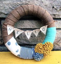 Cute burlap wreath by etsy store: tgdesignsbytraci