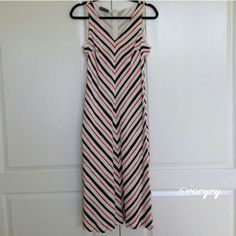 "c h e v r o n • p r i n t • s h i f t  • d r e s s Gorgeous red/ cream/ black v-neck dress.  100% silk.   Back zipper closure.  Excellent condition  Flat measurements across:   46"" long/  bust 17""/ waist 18""  Made in Italy. Hilton Vestimenta Dresses"