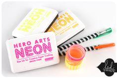 Heidi Swapp - neon ink - ummkay gotta admit I'm curious on using neon ink! It does look like fun! :D