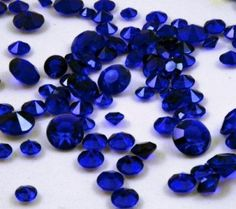 Sapphire Blue  Faux Diamonds - Plastic -Winter Wedding Confetti - Solitare Faux Diamonds - Table Decoration - Vase Filler on Etsy, $6.00