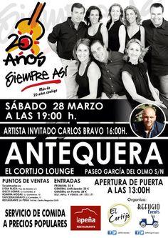 """""""Siempre Así"""" actúa en concierto en Antequera el próximo 28 de marzo. ¿Te gustaría asistir 'por la cara'? Atento a nuestras redes."""
