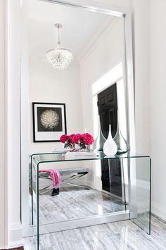 miroir couloir poser-sol-contre-mur-sonsole-transparente
