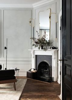 Home Decoration Ideas Cheap Majestic Stockholm apartment.Home Decoration Ideas Cheap Majestic Stockholm apartment Living Room Designs, Living Room Decor, Living Area, Stockholm Apartment, Parisian Apartment, Apartment Design, Apartment Living, Old Apartments, Fireplace Design