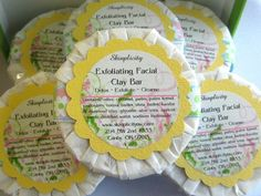 Facial Soap with clay and apricot seeds - excellent exfoliating facial bar for any skin type - pinned by pin4etsy.com