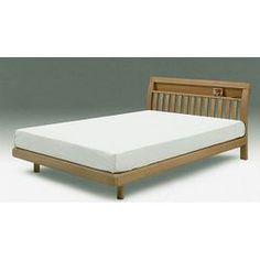シングルベッドすのこベッド2個口コンセント付/ナチュラル木製ベッドフレームシンプルデザイン