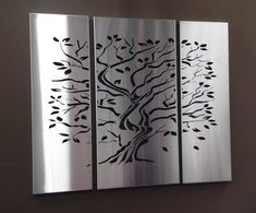 Tree of Life Laser Cut Screen in Stainless Steel