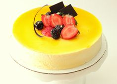 passion fruit glaze, mango mousse, green tea cake | Amy's Food Adventures