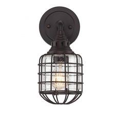 Cage 1 Light Sconce