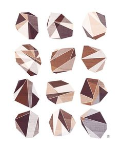 Soft Rock Geometric Facet Print by Tabitha Brown       http://www.etsy.com/listing/75327694/soft-rock-geometric-facet-8x10-art-print?ref=af_you_favitem