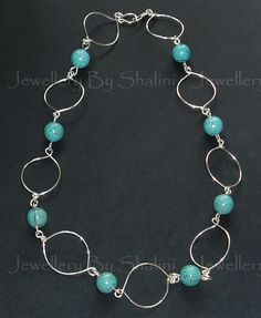 Wire and Turquoise Necklace
