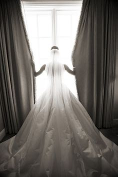 Wedding Poses: Bride before meeting the groom - via Daily Cup of Couture
