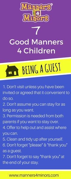 [7 Good Manners For Children being a guest]