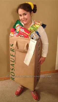 Coolest Grocery Bag Costume... Homemade Costume Contest