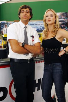 Chuck- Best Show Ever!  And as of today all five seasons are on Netflix!!!!!!