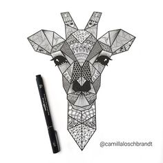 The giraffe is finished 😊 Do you like it?   I love it when you guys get inspired or recreate my drawings, I really do, so feel free to do so - but please remember to give me credit 💕☺️ Seen alot of drawings on instagram which are so clearly inspired by my original drawings (some even a clear copy - and some even for sale 🙊) but without proper credit. Also, I'm planning a video on how I make these animals from start to finish 😊😊