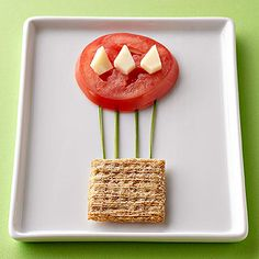 Show your kids that healthy veggies can be fun with these creative tomato hot air balloons.