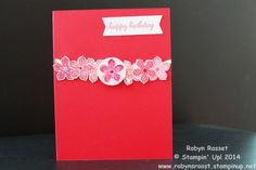 Petite Petals birthday card using the Fusion Card Challenge as inspiration. www.robynsroost.stampinup.net