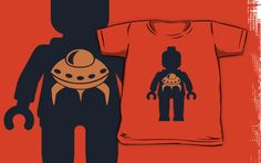 """""""Minifig with Space Invader UFO Logo by Customize My Minifig"""" Kids Clothes by ChilleeW   Redbubble"""
