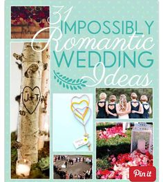 31 Impossibly Romantic Wedding Ideas  #Relationships #Trusper #Tip