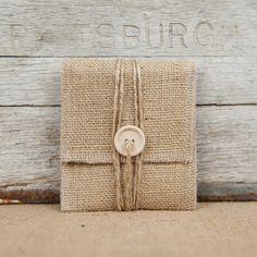 5 Natural Burlap USB/Wallet Pouches by KraftandJute on Etsy, $15.30