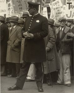 Dorothea Lange Policeman and Demonstrating Crowds During the General Strike, San Francisco 1934 General Strike, Gelatin Silver Print, National Gallery Of Art, Canada Goose Jackets, Police, Winter Jackets, Pictures, Photography, Fictional Characters