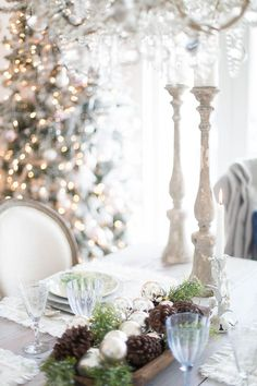 christmas rustic tablescape french country style #christmas #decor #style #design