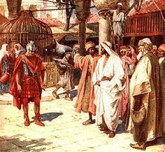 "Jesus and the Centurion at Capernaum.    BIBLE SCRIPTURE: Luke 7:6, ""Then Jesus…"