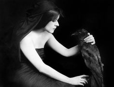 Theda Bara, born Theodosia Goodman, silent film actress. America's first female fatale and goth.
