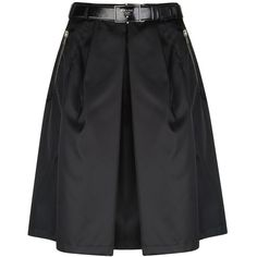 See this and similar Prada Sport knee length skirts - Faille Prada high waisted skirt with zip and button closure. This skirt features gathered pleat detail, zi...
