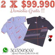 2 CAMISETAS SOLO $99.990 DOMICILIO GRATIS WHTSP:3013595097...