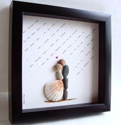 Unique WEDDING Gift-Customized Wedding Gift-Pebble Art-Unique