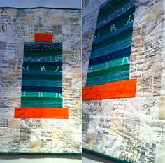 """Of course my favourite artwork exhibited at #festivalofquilts had been a quilt titled """"Giant Aurifil Spool"""" by Amy Cavanagh http://www.craftyshenanigans.blogspot.it/ ... shown at the London Modern Quilt Guild's stand."""
